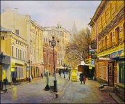 Walking tour along the Arbat street and Moscow Metro